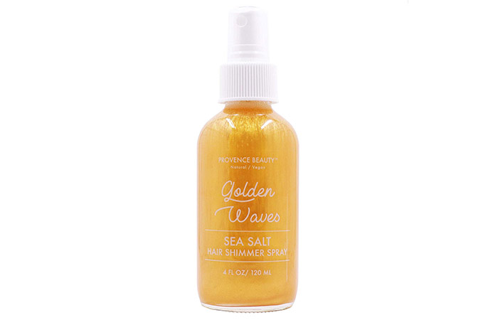6. Provence Beauty Hair Shimmer Spray - Sea Salt - Golden Waves
