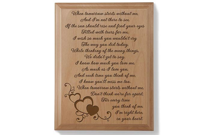 A Letter From Heaven Wood Plaque