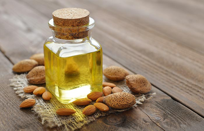 Almond oil with tea tree oil for hair growth
