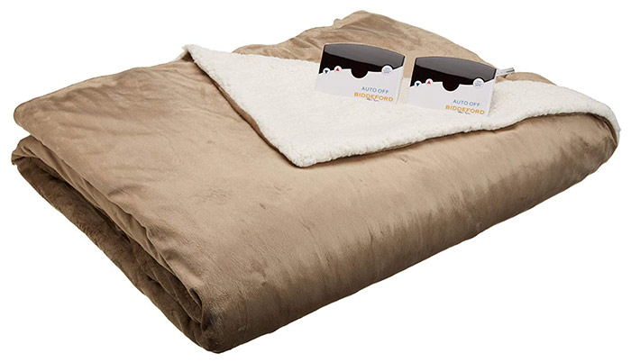 Best Dual-Control Biddeford Micromink Sherpa Heated Blanket – Queen