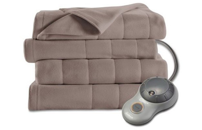 Best Overall Sunbeam Quilted Fleece Heated Blanket