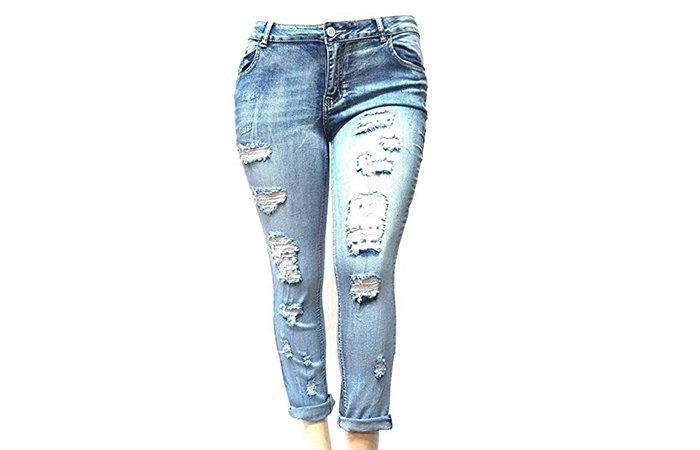 Best Plus-Size Ripped Jeans