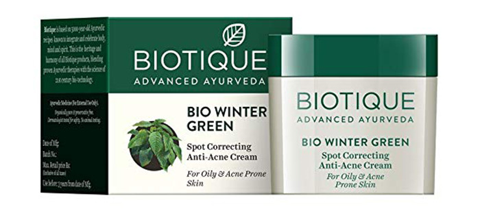Bio Winter Green Spot Correcting Anti-Acne Cream)
