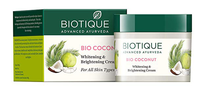 Biotique Bio Coconut Whitening & Brightening Cream)