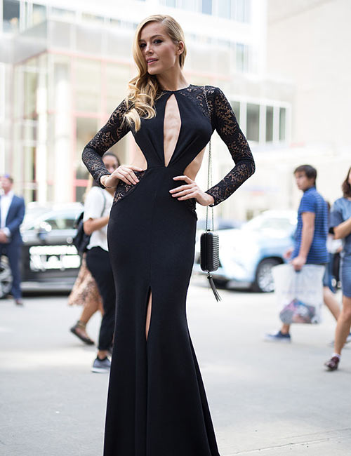 Black Slit Gown