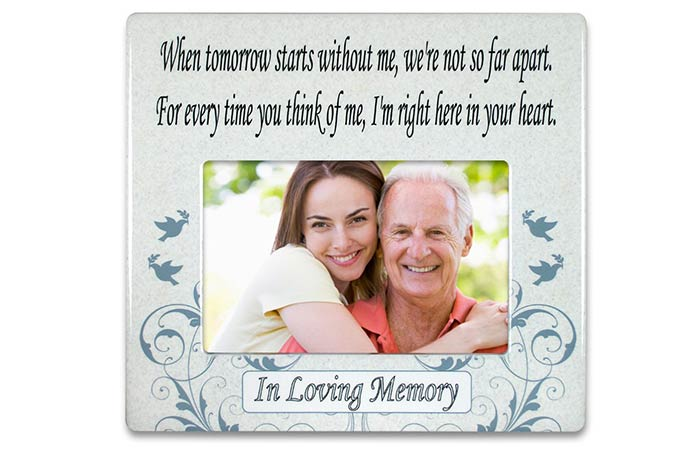 Ceramic Memorial Photo Frame