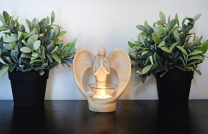 Comforting Angel Candle Holder
