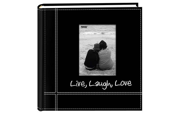 Embroidered Leather Photo Album