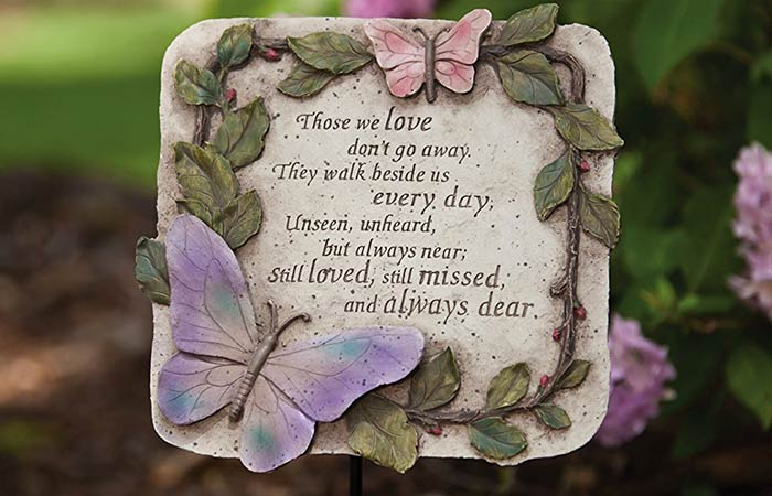 Evergreen Garden Polystone Memorial Stepping Stone