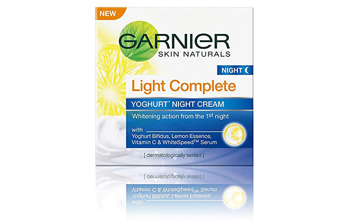 Garnier Light Complete Yoghurt Night Cream)