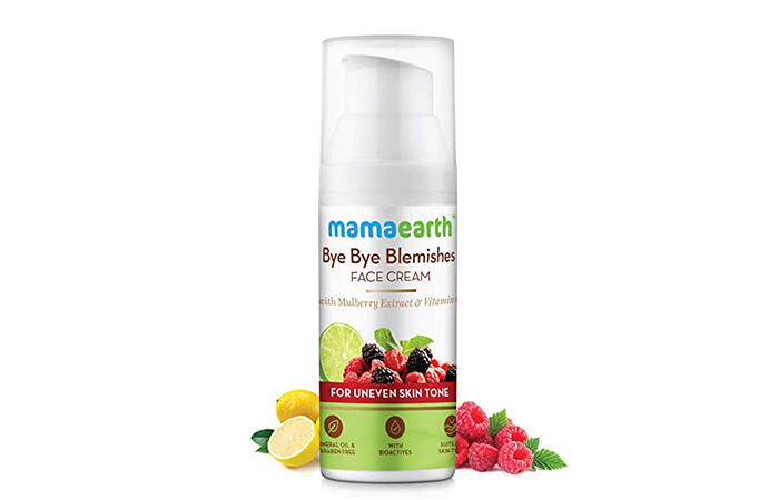 Mamaearth Bye Bye Blemishes Face Cream)
