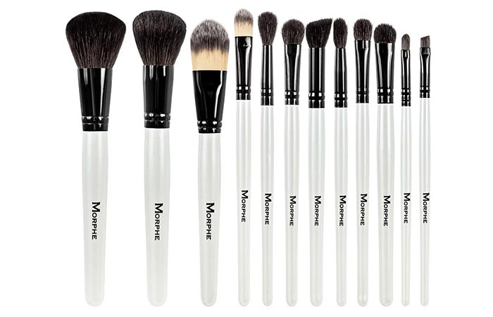 Morphe Set 706 Black And White 12-Piece Travel Set