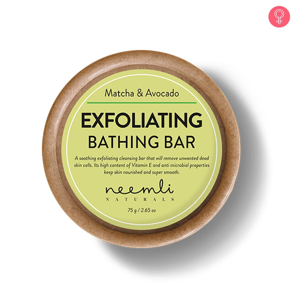 Neemli Naturals Matcha & Avocado Exfoliating Bathing Bar-0
