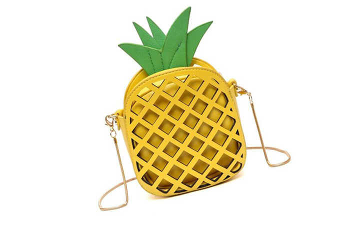 Pineapple Leather Clutch Purse