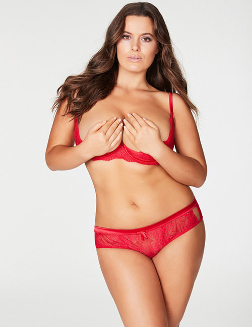 Poppy Olivia Lace Shelf Bra Plus Size