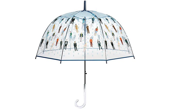 Raining Men Clear Bubble Dome Umbrella
