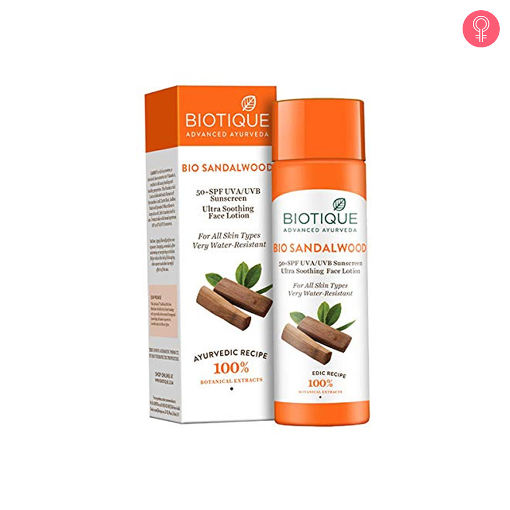 Biotique Bio Sandalwood 50+ SPF UVA/UVB Sunscreen