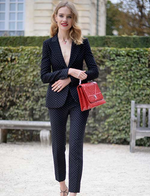 Tailored Black Pant Suit