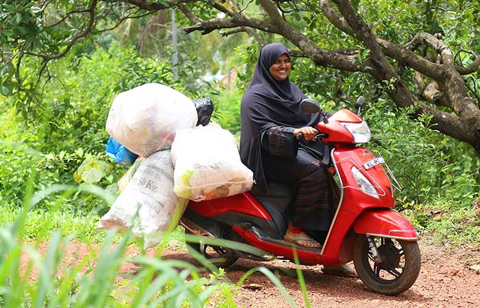 This Kudumbashre activist once collects waste from 550 dwellings