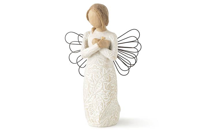 A willow tree memorial figure