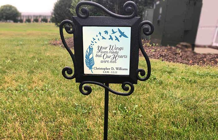 Wrought Iron Personalized Memorial Garden Stake