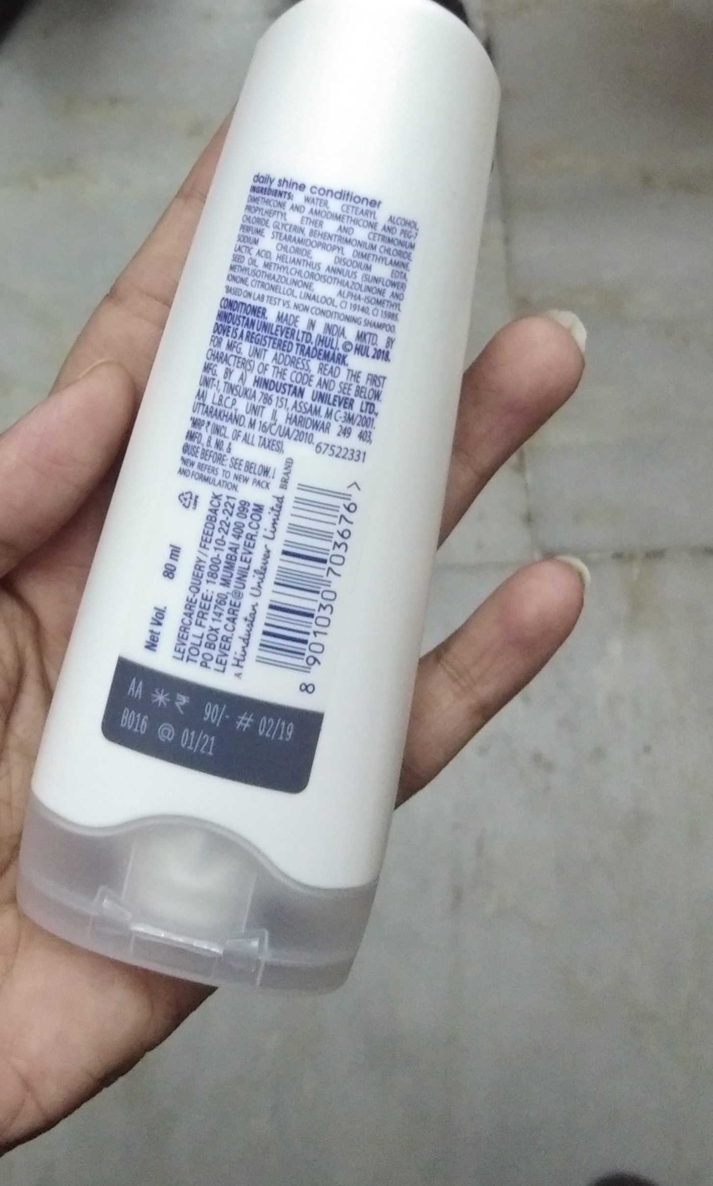 Dove Daily Shine Conditioner-Works great for my hair-By Nasreen-1
