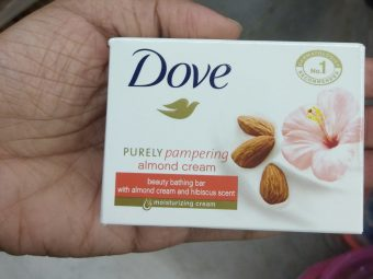Dove Almond Cream Beauty Bathing Bar pic 2-Best soap for dry skin-By Nasreen