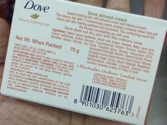Dove Almond Cream Beauty Bathing Bar pic 1-Best soap for dry skin-By Nasreen