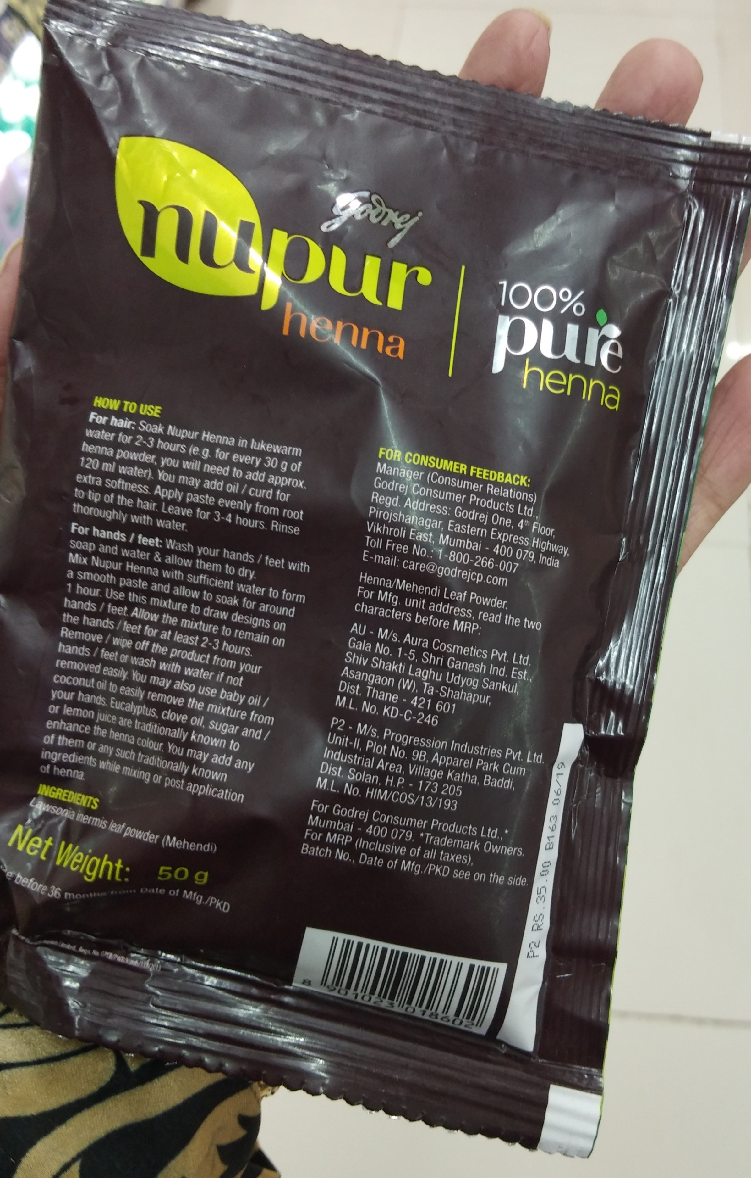 Godrej Nupur Henna Color-Gives color and prevents dandruff to an extent-By Nasreen-1