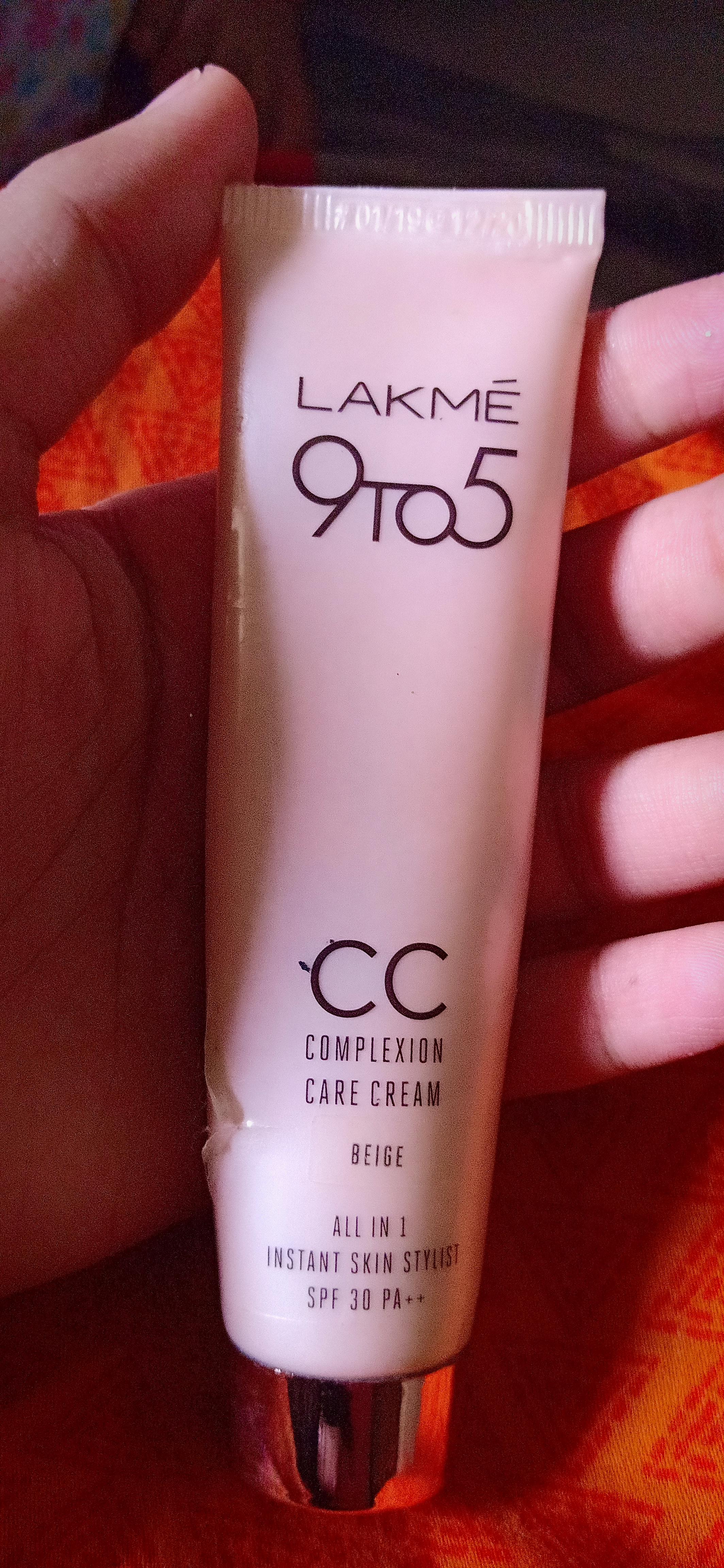 Lakme 9 To 5 Complexion Care CC Cream Reviews, Price