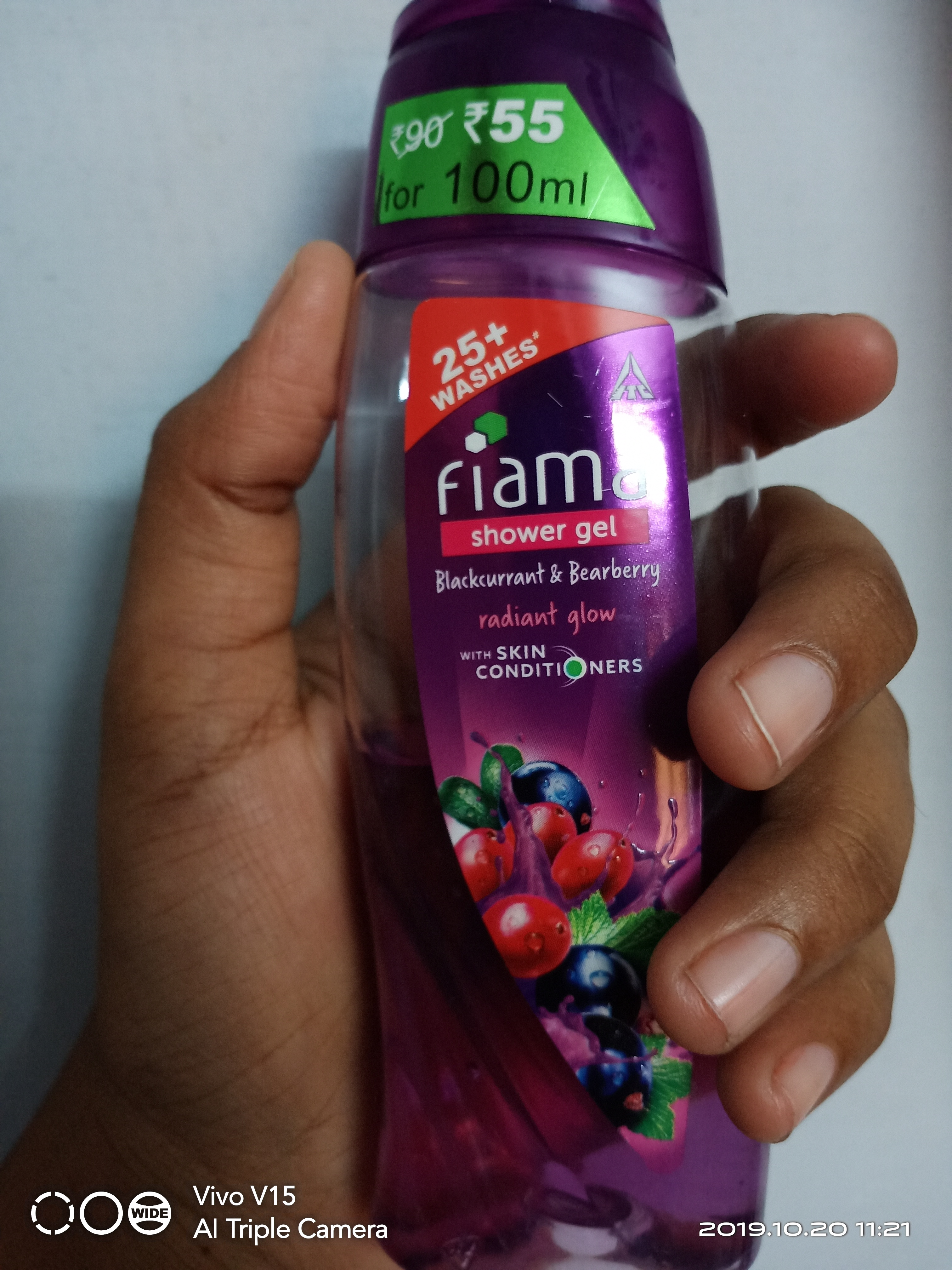 Fiama Blakcurrant & Bearberry Radiant Glow Gel Bar-Soothens not only your skin but also your mood with its pleasant fragrancr.-By mirudhu_varshini