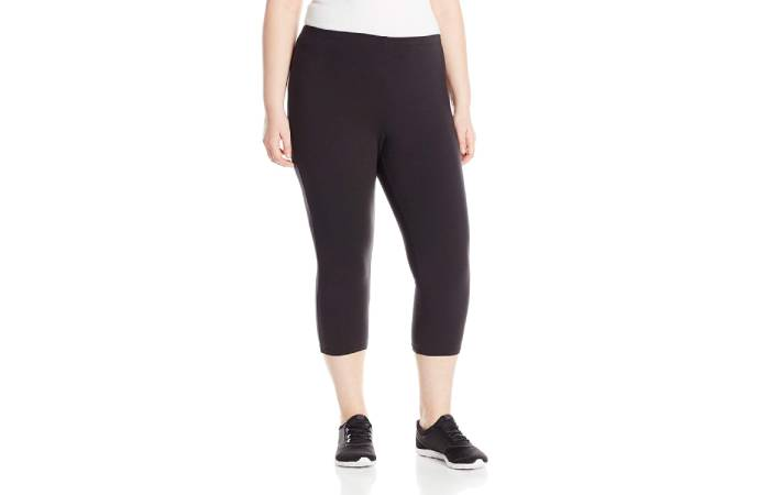 3. Just My Size Women'S Plus-Size Stretch Jersey Capri Legging