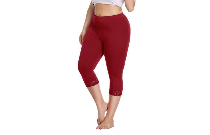8. Raddzo Women's Plus Size Capri Cropped Leggings