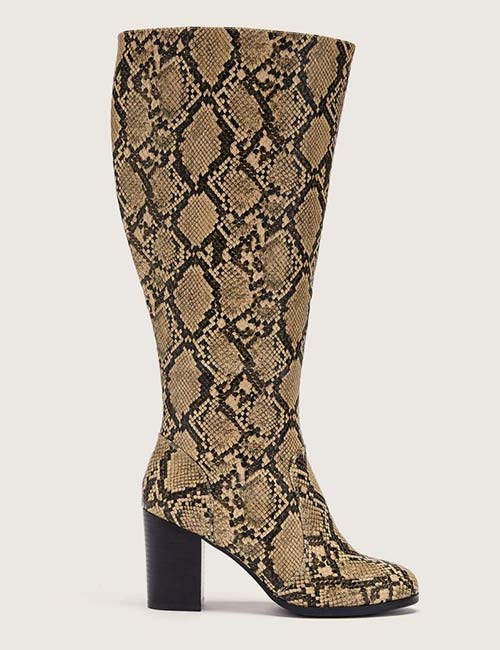 Addition Elle Wide Tall Boot With Stretch Zipper