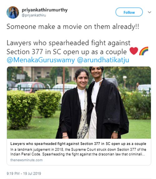 As The Lawyers Behind Sec 377 Verdict Come Out As A Couple