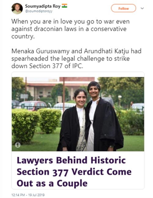 As The Lawyers Behind Sec 377 Verdict Come Out As A Couple1