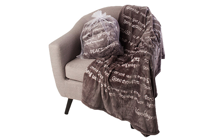 BlankieGram Healing Thoughts Throw Blanket