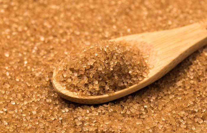 Brown sugar or brown sugar for dead skin