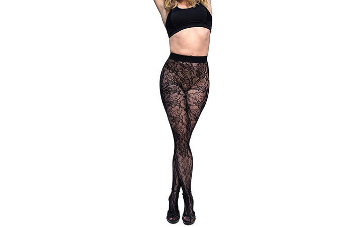 Curvation Women's Plus Size Figure Enhancing Blossom Tights