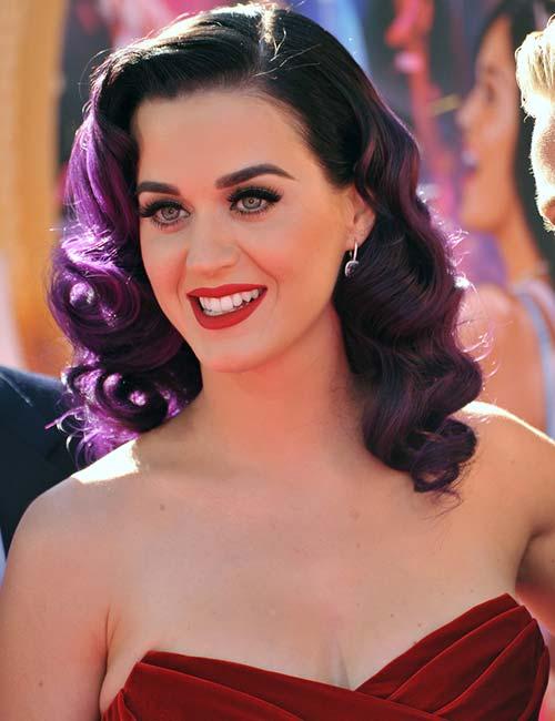Dark Purple Curls