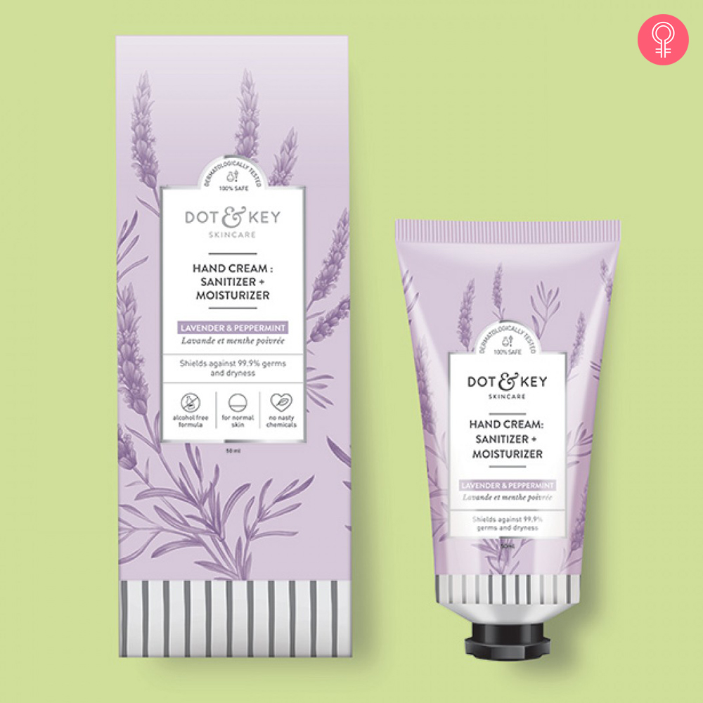 Dot & Key Hand Cream : Sanitizer + Moisturizer (Lavender & Peppermint)