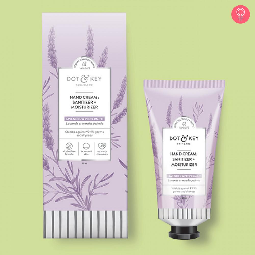 Dot & Key Hand Cream : Sanitizer + Moisturizer (Lavender & Peppermint)