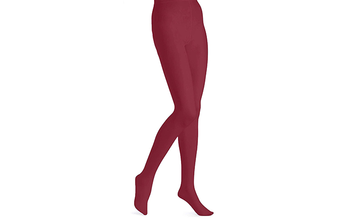 EMEM Apparel Women's Queen Opaque Footed Plus-Size Tights