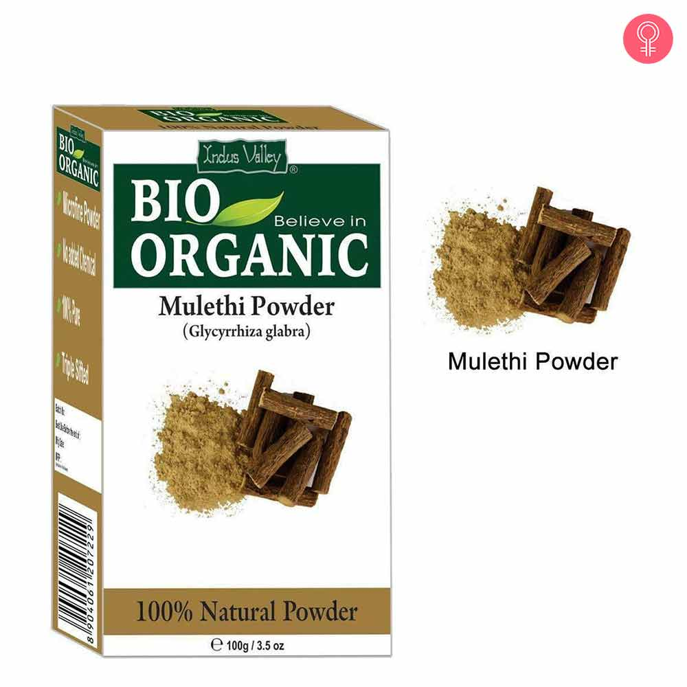 Indus Valley Bio Organic Mulethi Powder For Hair & Skin Care