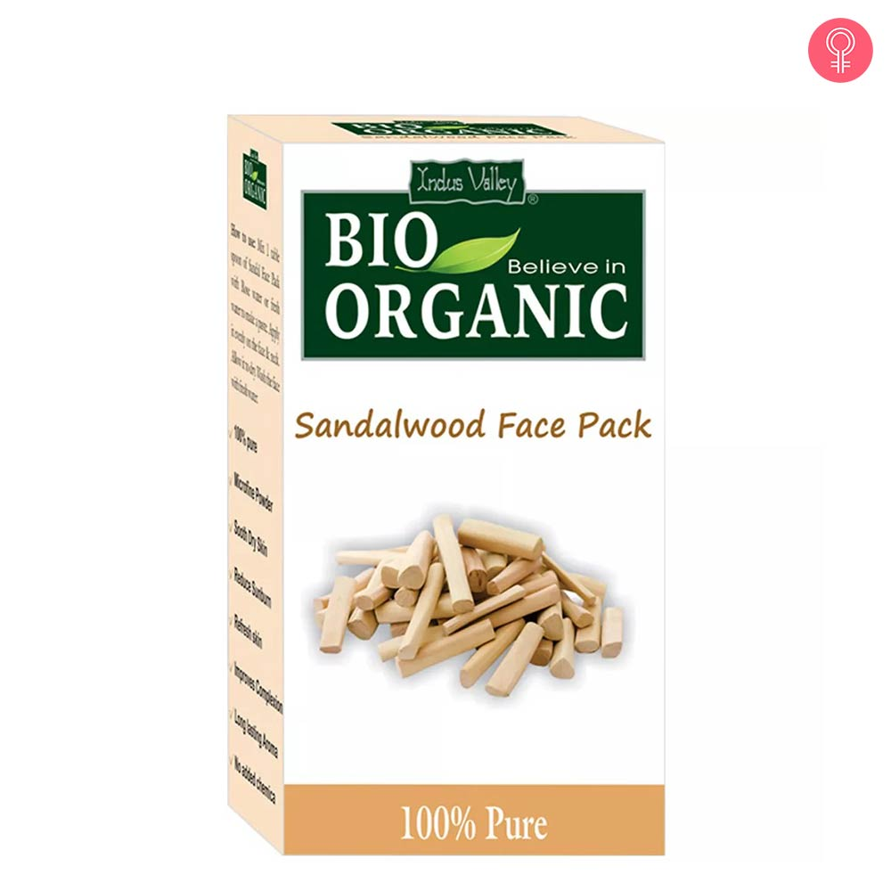 Indus Valley Bio Organic Sandalwood Face Pack Powder