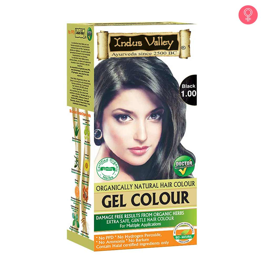 Indus Valley Gel Hair Colour – Natural Black 1.0
