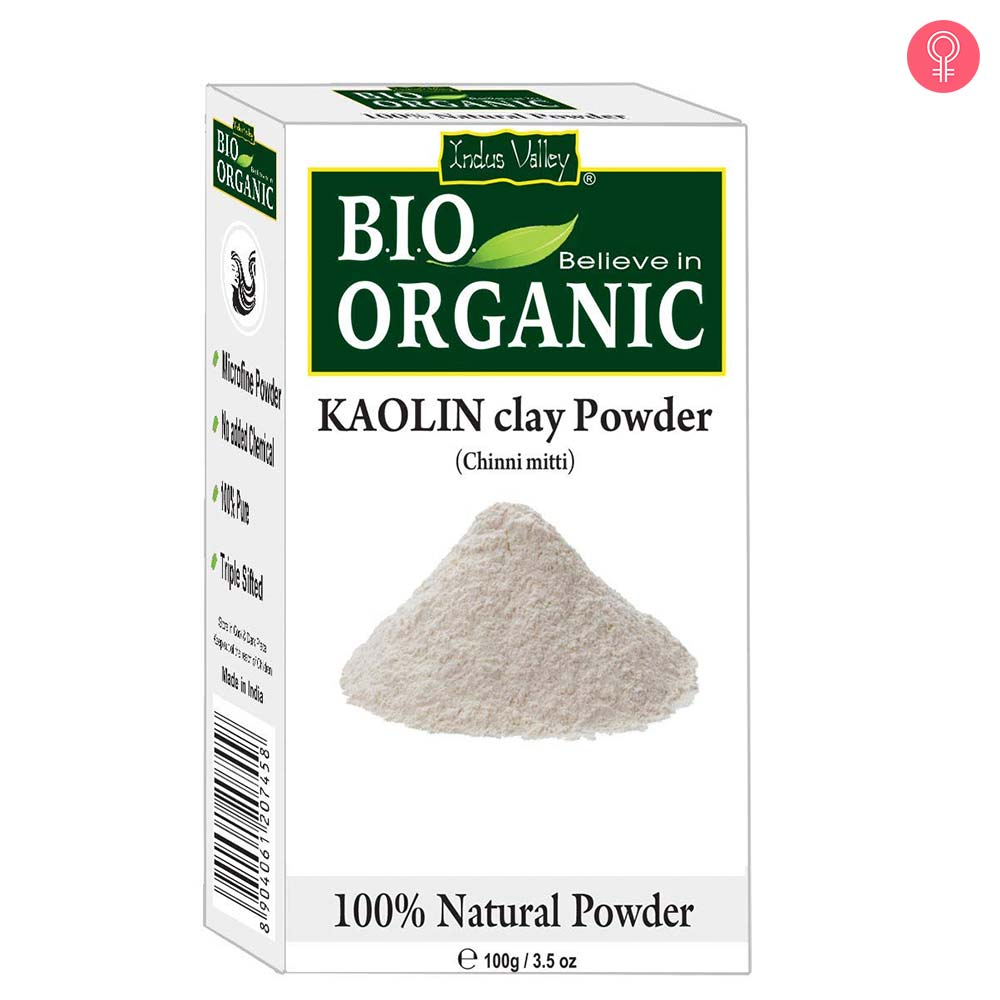 Indus Valley Natural Kaolin Clay Powder For Acne, Blackheads And For Glowing Skin