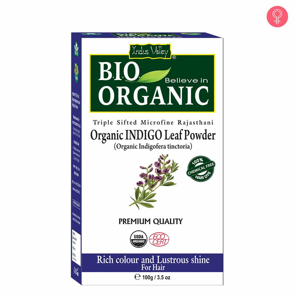 Indus Valley Bio Organic Indigo Leaf powder for Hair Coloring