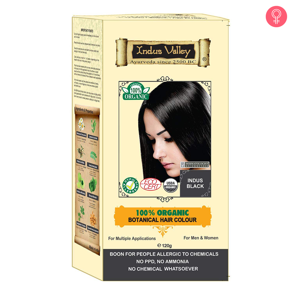 Indus Valley 100% Botanical Indus Black Hair Color