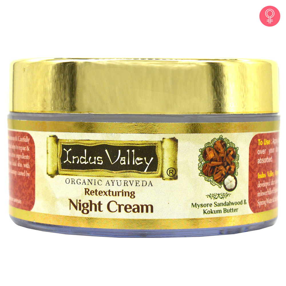 Indus Valley Organic Retexturing Night Cream With Mysore Sandalwood & Kokum Butter
